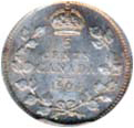 Canada 1904 5 Cents – Edward VII Coin Reverse