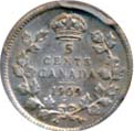 Canada 1909 5 Cents – Edward VII Coin Reverse
