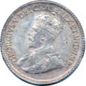 Canada 1917 5 Cents – George V Coin Obverse