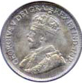 Canada 1920 5 Cents – George V Coin Obverse