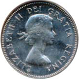Canada 1964 5 Cents – Elizabeth II Coin Obverse