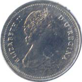 Canada 1983 5 Cents – Elizabeth II Coin Obverse
