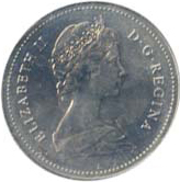 Canada 1984 5 Cents – Elizabeth II Coin Obverse