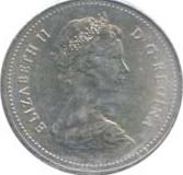 Canada 1986 5 Cents – Elizabeth II Coin Obverse