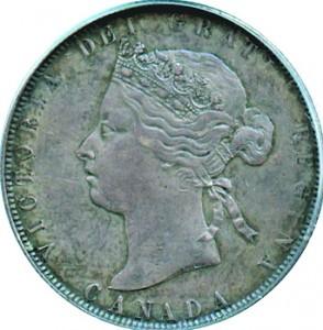 Canada 1870 50 Cents – Victoria Coin Obverse