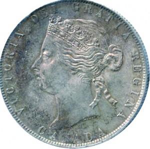 Canada 1892 50 Cents – Victoria Coin Obverse