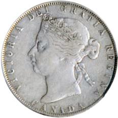 Canada 1899 50 Cents – Victoria Coin Obverse