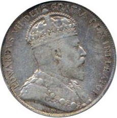 Canada 1902 50 Cents – Edward VII Coin Obverse