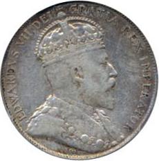 Canada 1902 50 Cents – Edward VII Coin Obverse