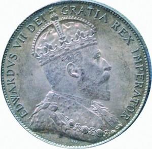 Canada 1910 50 Cents – Edward VII Coin Obverse