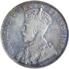 Canada 1911 50 Cents – George V Coin Obverse