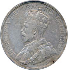 Canada 1912 50 Cents – George V Coin Obverse