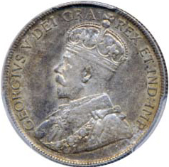 Canada 1917 50 Cents – George V Coin Obverse
