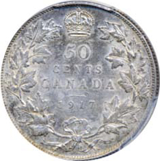 Canada 1917 50 Cents – George V Coin Reverse