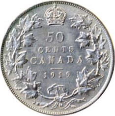 Canada 1919 50 Cents – George V Coin Reverse