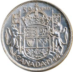 Canada 1946 50 Cents – George VI Coin Reverse