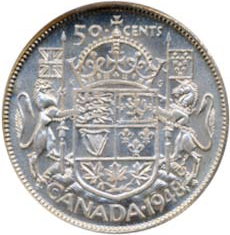 Canada 1948 50 Cents – George VI Coin Reverse