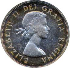 Canada 1953 50 Cents – Elizabeth II Coin Obverse