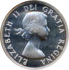 Canada 1956 50 Cents – Elizabeth II Coin Obverse