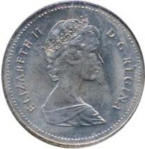 Canada 1982 50 Cents – Elizabeth II Coin Obverse