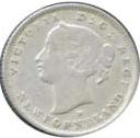 Newfoundland 1876 5 Cents – Victoria Coin Obverse