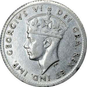 Newfoundland 1941 5 Cents – George VI Coin Obverse