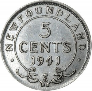 Newfoundland 1941 5 Cents – George VI Coin Reverse