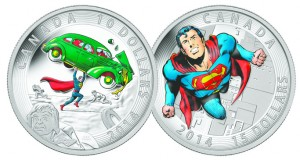 Two iconic comic book covers appear on these coins. Superman's first appearance from 1938, and a classic one from 1972. The superman coins sold out quickly.