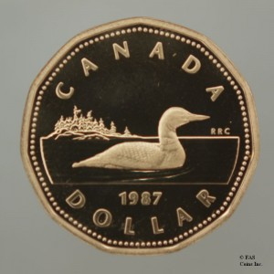 Canada's loonie was first introduced in 1987 under Mulroney's government.
