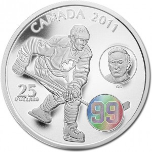 The Mint also released this $25 silver hologram coin of Gretzky in 2011.