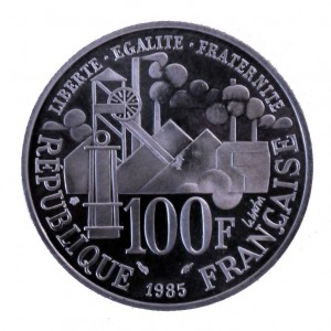 The French coin commemorates the 100th anniversary of the release of the Zola's book Germinal.