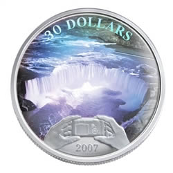 The Mint also struck this $30 hologram coin in 2007.
