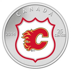 With a limited mintage of 6,000, this painted cupro-nickel coin featuring the Flames was stuck by the Mint in 2014.
