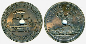 Bronze tokens with a 25-mm diameter were issued.