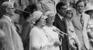 Queen Elizabeth II opened the 1976 Summer Olympics in Montréal.