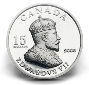 The Royal Canadian Mint issued this double-effigy coin featuring Edward VII in 2008.