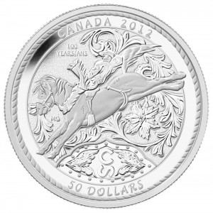 The Mint also struck this silver dollar to mark the Calgary Stampede's 100th anniversary in 2012.