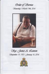 James Lawson memorial.