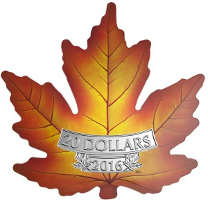This 'Colourful Maple Leaf' coin was designed by