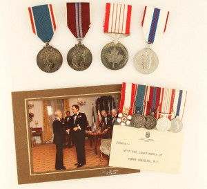 The 19-piece set included medals, awards, military insignia, photographs and letters formerly belonging to Douglas. (Photo via jeffreyhoare.on.ca)