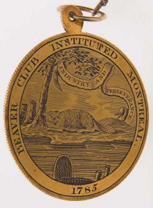 In 1820, Simpson received a Beaver Club medal.