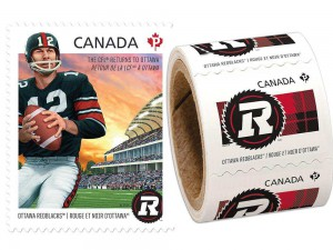 Lisa Raitt, minister of transportation, said the 2012 Redblacks stamps built a bridge between Ottawa's football past and future.