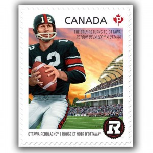 The Redblacks were also featured on this Permanent-rate stamp (CS #2755).