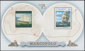 Canada Post also issued a souvenir sheet of two stamps as part of the release.