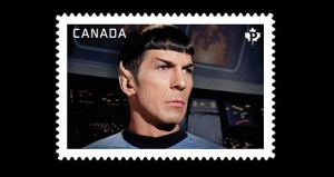 On April 8, Canada Post issued this stamp featuring Spock.