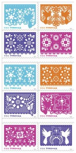 """Tomorrow, USPS will issue its """"Colorful Celebrations"""" series of 10 stamps."""