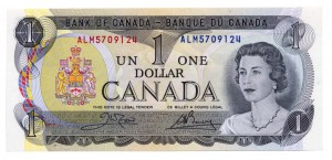 Canada 1973 1 Dollar –  Note  (Multicolour) Obverse