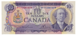 Canada 1971 10 Dollars –  Note  (Multicolour) Obverse