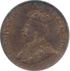 Canada 1922 1 Cent – George V  Coin  (Small) Obverse