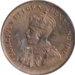 Canada 1932 1 Cent – George V  Coin  (Small) Obverse